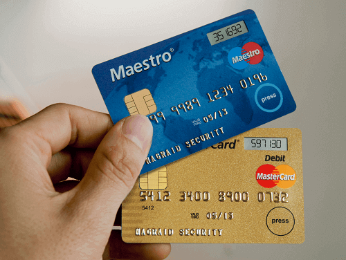 maestro and mastercard bank cards